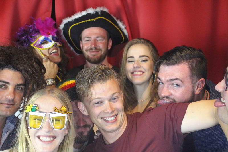 Red Satin Photo Booth